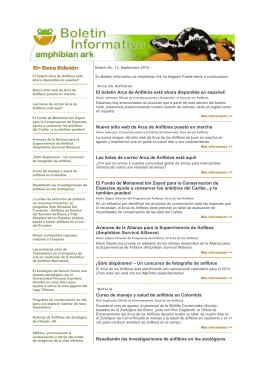 Boletín No. 12 Septiembre 2010