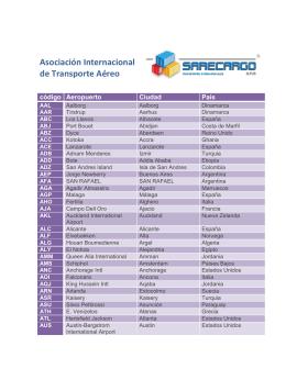Códigos Internacionales de Aeropuertos