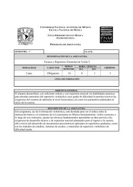 Técnica y Repertorio Elemental de Violín V Curso Obligatorio 16 0 1