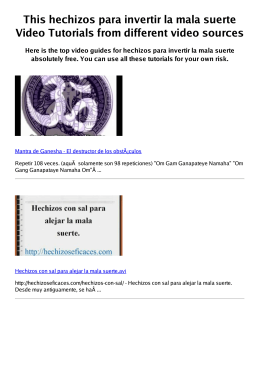 #Z hechizos para invertir la mala suerte PDF video books