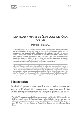 Identidad aymara en San José de Kala, Bolivia
