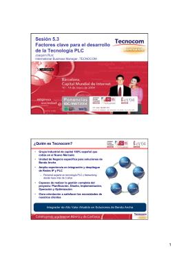 Sesión 5.3 Factores clave para el desarrollo de la Tecnología PLC