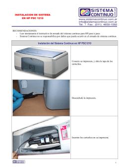HP 1210 - Sistema Continuo