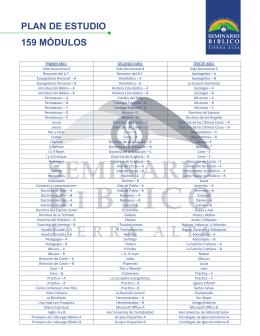 PLAN DE ESTUDIO 159 MÓDULOS