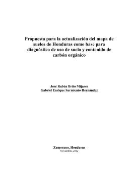 Propuesta para la actualización del mapa de suelos de Honduras