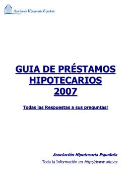 guia de préstamos hipotecarios 2007