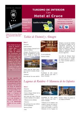 Lagunas de Ruidera -Villanueva de los Infantes Hotel el Cruce