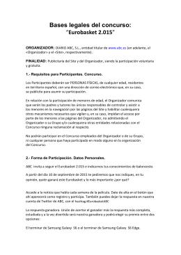 "Bases legales del concurso: ""Eurobasket 2.015"""