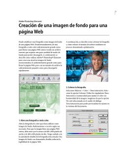 Creación de una imagen de fondo para una página Web