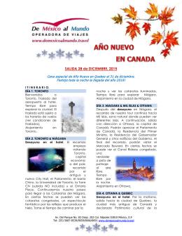 SALIDA 28 de DICIEMBRE, 2015 - De México Al Mundo Operadora