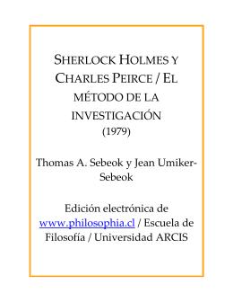 Sherlock Holmes y Charles Peirce / El método de la investigación