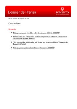 Magisterio Español 30/06/09