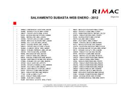 Oferta de Vehiculos Siniestrados,Enero 2012