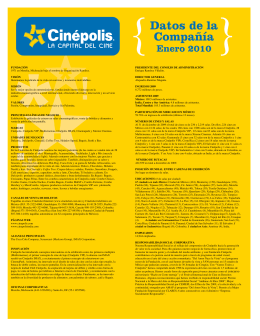 Cinepolis reporte resultados 2009