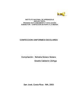 CONFECCION UNIFORMES ESCOLARES Compilación: Nohelia