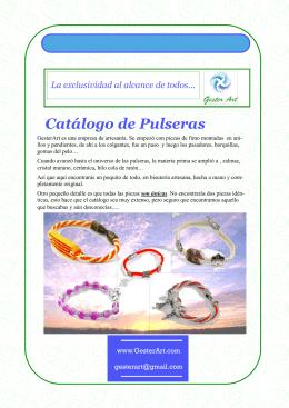 Catálogo de Pulseras - La exclusividad al alcance de todos