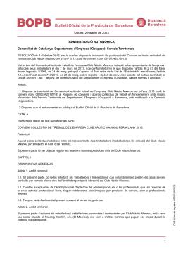 Club Nàutic Masnou - CCOO de Catalunya