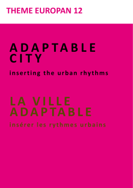 ADAPTABLE CITY LA VILLE ADAPTABLE