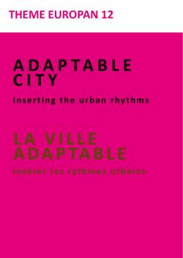 ADAPTABLE CITY LA VILLE ADAPTABLE