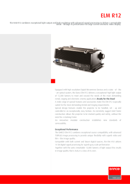 ELM-R12 - Especificaciones técnicas