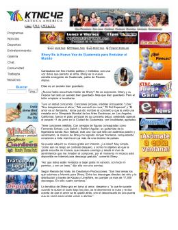 Buscar Shery Es la Nueva Voz de Guatemala para Endulzar el Mundo