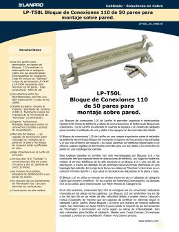 LP-T50L Bloque de Conexiones 110 de 50 pares para