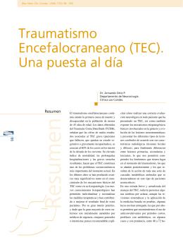 Traumatismo Encefalocraneano (TEC). Una puesta al día