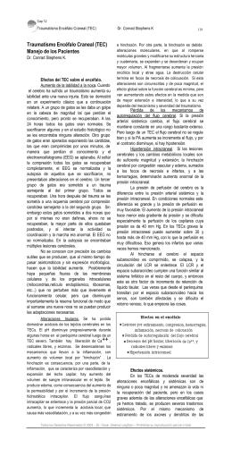 Traumatismo Encéfalo Craneal (TEC)