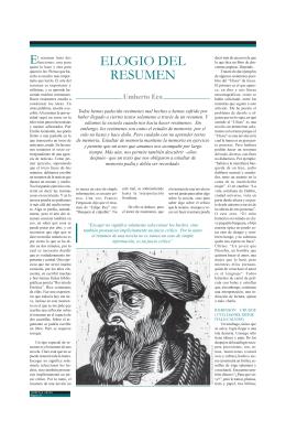 Elogio del Resumen / Umberto Eco
