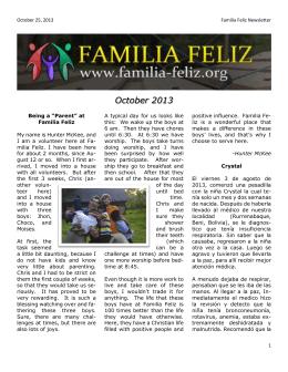 October 2013 - Familia Feliz