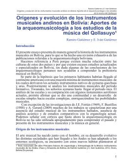 Orígenes y evolución de los instrumentos musicales andinos en