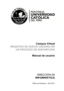informática - Idiomas Católica - Pontificia Universidad Católica del