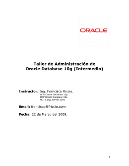Taller de Administracion de Oracle Database 10g