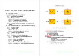 TEMA 12. RECTIFICADORES NO CONTROLADOS