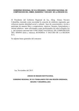 El Presidente del Gobierno Regional de Ica, Abog. Alonso Navarro