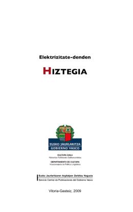 Elektrizitate-denden Hiztegia - Euskara