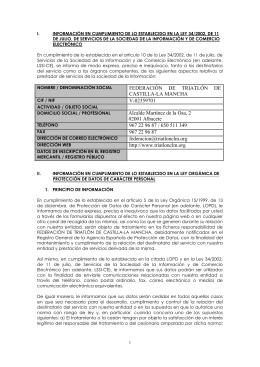 FEDERACIÓN DE TRIATLÓN DE CASTILLA