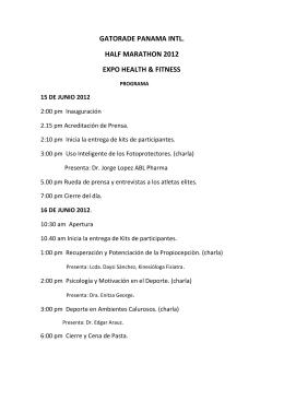 PROGRAMA EXPO HEALTH & FITNESS 2012