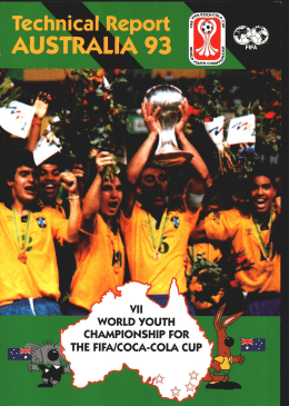 w % WORLD YOUTH CHAMPIONSHIP FOR THE FIFA/COCA