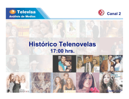 Histórico Telenovelas 17:00 hrs.