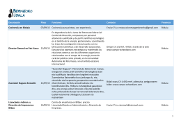 Descripción Plazo Funciones Contacto Provincia Cocinero/a en