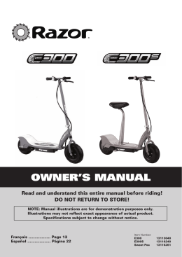 OWNER`S MANUAL - Wild Scooter Parts