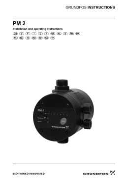 GRUNDFOS INSTRUCTIONS