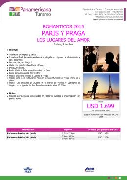 PARIS Y PRAGA - Panamericana Turismo