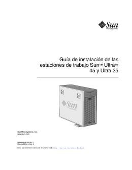 Guía de instalación de las estaciones de trabajo Sun Ultra 45 y Ultra
