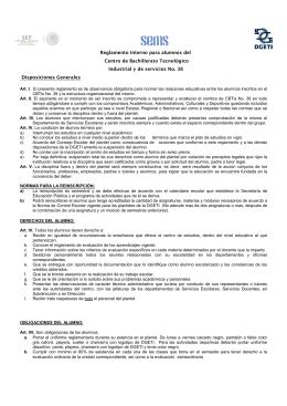 Reglamento Interno para alumnos del Centro de