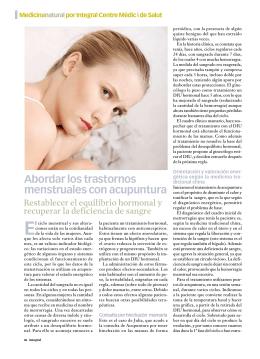 Abordar los trastornos menstruales con acupuntura