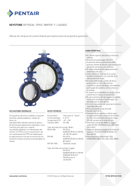 Keystone Butterfly Valves, Model OptiSeal F14-F17