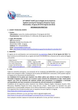 UIT-IMPACT ALERT para la Región de las Américas Applied