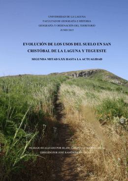 Evolucion de los usos del suelo en San Cristobal de La Laguna y